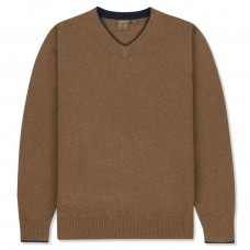 Musto Shooting V-Neck Toffee
