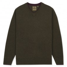 Musto Shooting V Neck Knit Jumper (Rifle Green)