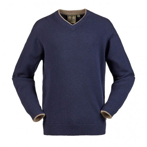 Musto Shooting V Neck Knit Jumper (True Navy)