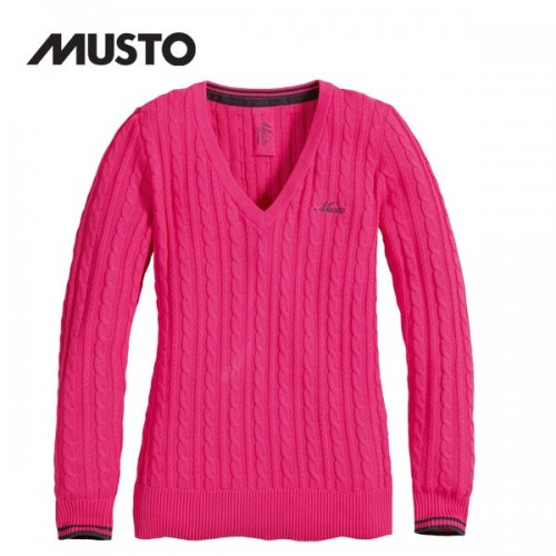 Musto Standon Cable Knit Pink