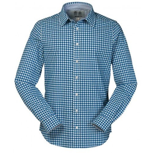 Musto oxford shirt french blue gingham for French blue oxford shirt