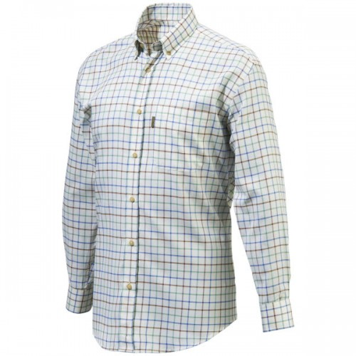 Beretta Classic Button Down Blue Check Shirt