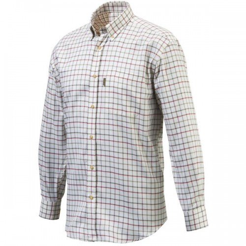 Beretta Classic Button Down White / Pink Check Shirt