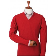 Laksen Astor Red V-Neck Sweater