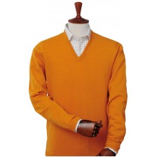 Laksen Astor Orange V-Neck Sweater