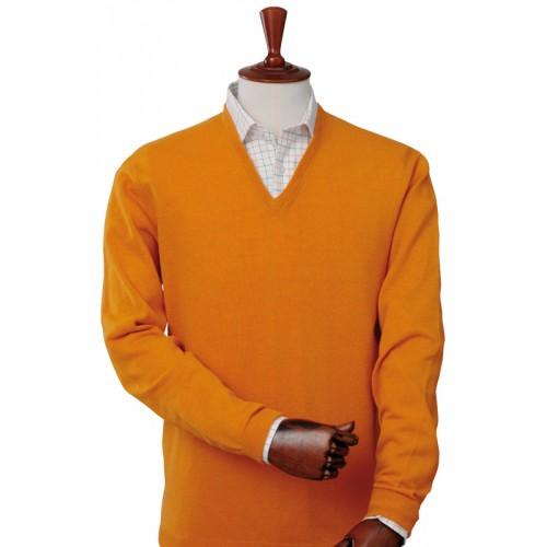 Laksen Astor Orange V-Neck Sweater