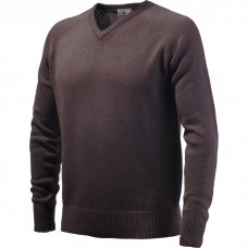Beretta V-neck Jumper Brown