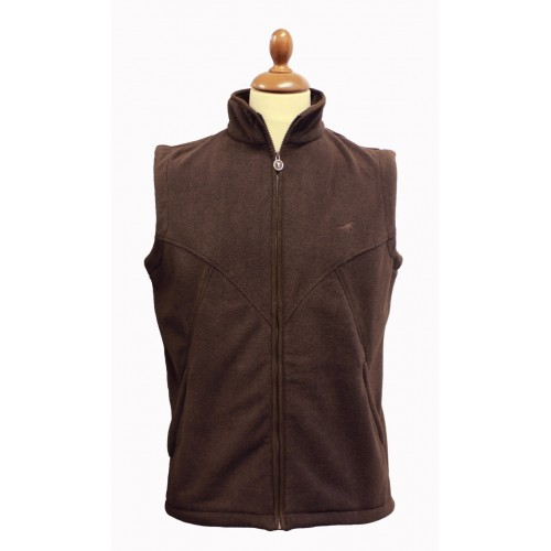 0a637f70be laksen Cape Fleece Vest Brown