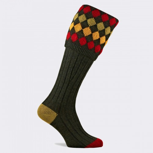 Pennine Kendal Luxe Shooting Sock - Hunter
