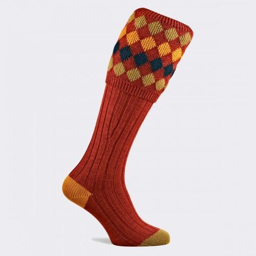 Pennine Kendal Luxe Shooting Sock - Maple