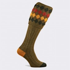Pennine Kendal Luxe Shooting Sock - Old Sage
