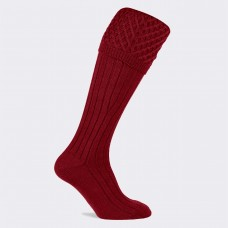 Pennine Chelsea Shooting Socks - Deep Red
