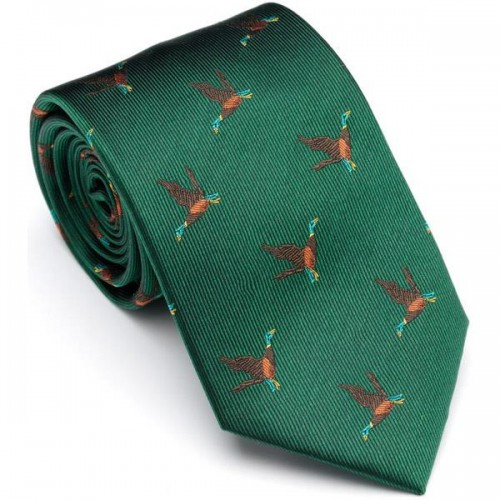 Laksen Flying Duck Tie - Vintage Green