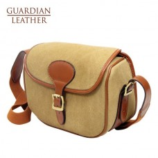 Guardian Heritage Cartridge Bag (Sandstone Canvas & Tan Leather)