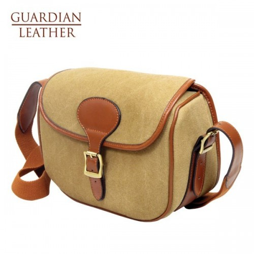 Guardian Heritage Cartridge Bag (Sandstone Canvas & Tan Leather)