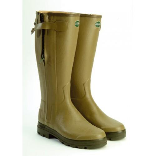 Le Chameau Chasseur Leather Lined Wellington Boots