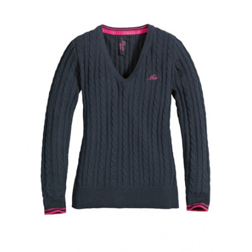 Musto Standon Cable Knit Navy