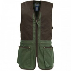 Beretta Trap Cotton Vest - Black Forest & Coffee Bean