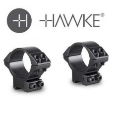 Hawke Match Rifle Scope Mount Rings - 30mm - Low Weaver/Picatinny