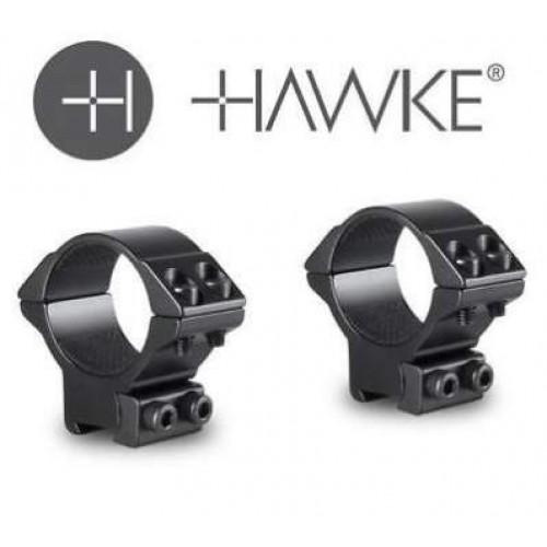 Hawke Match Rifle Scope Mount Rings - 30mm - Low Weaver/Picatinny